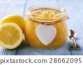 Homemade lemon jam in glass jars. 28662095