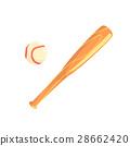 bat, ball, wooden 28662420