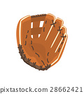 Catcher Leather Glove, Part Of Baseball Player 28662421