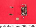 Empty red clip file 28662502