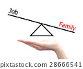 hand with job and family concept 28666541