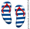 Pair of blue striped sandals 28668154