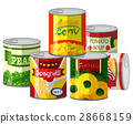 Pile of different canned food 28668159