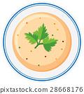 bowl, soup, creamy 28668176