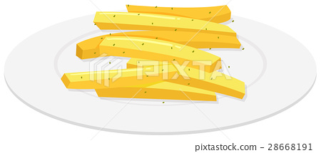 Frenchfries on the plate 28668191