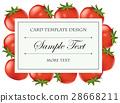 卡片 模板 西红柿 28668211