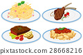 Different food on dish 28668216