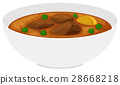 Bowl of beef stew with vegetables 28668218