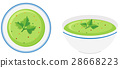 Cream vegetable soup in bowl 28668223