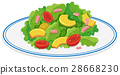 Plate of green salad 28668230