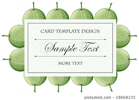 Card template with cantaloupe fruits background 28668235