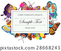 card template colorful 28668243