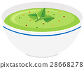 Bowl of vegetable cream soup 28668278