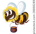 isolated bee pot 28668289