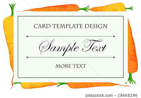 Card template with fresh carrots in background 28668290