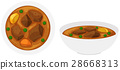 Beef stew in bowls 28668313