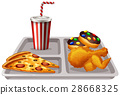 Tray with food and drink 28668325