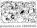 hand drawn doodle Funny Dogs ,Vector illustration. 28668485