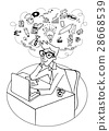 Vector illustration of Doodle Young business man  28668539