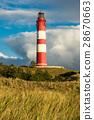 Lighthouse in Wittduen on the island Amrum 28670663