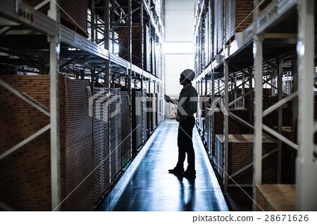 ภาพการจัดการผลิตภัณฑ์คลังสินค้าลอจิสติก 28671626