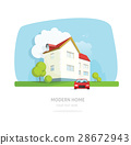 Modern home facade contemporary, house traditional 28672943