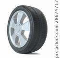 High Quality Car Wheel, Isolated 28674717