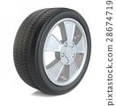 High Quality Car Wheel, Isolated 28674719