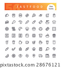 icon vector fastfood 28676121