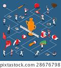 Baseball Game Isometric Flowchart 28676798