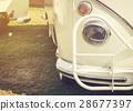 Headlight lamp of retro classic car vintage style 28677397