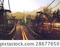highway street on futuristic city 28677650