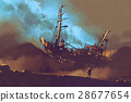 水彩畫 水彩 船 28677654