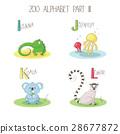 Animal children zoo A-Z alphabet, page I J K L 28677872