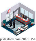 Vector 3D isometric illustration interior of 28680354