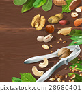 Vector illustration of nutcracker and nuts 28680401
