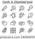 사탕, 아이콘, 벡터 28680609
