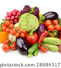 set vegetables isolated on white background 28684317
