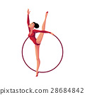 Girl standing in vertical leg split, rhythmic 28684842