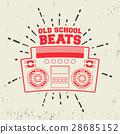 Old school beats vintage stamp 28685152