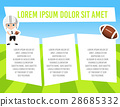 Banner with child sportsman with space for text.  28685332