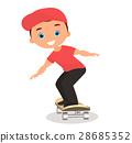 男孩 卡通 溜冰板 28685352