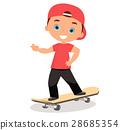 男孩 卡通 溜冰板 28685354