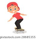 男孩 卡通 溜冰板 28685355