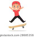 男孩 卡通 跳 28685356