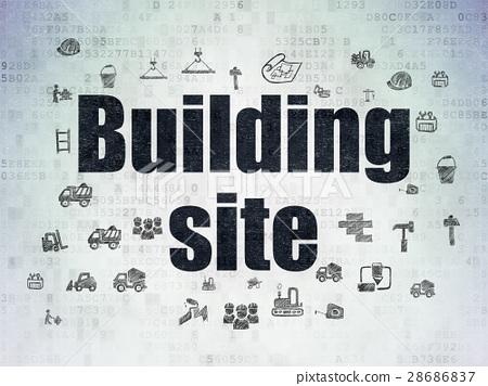 Building construction concept: Building Site on 28686837
