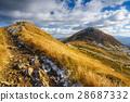walking trail in Bieszczady mountain in Poland 28687332