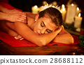 Massage of woman in spa salon. Luxary interior 28688112