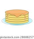 pancake, icon, vector 28688257