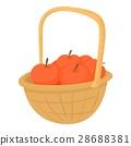 basket, apples, icon 28688381